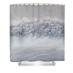 The Front Of Cold Shower Curtain