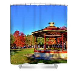 Shower Curtain featuring the photograph The Gazebo At Reaney Park by David Patterson
