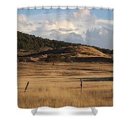 The Golden Hour In Utah Shower Curtain