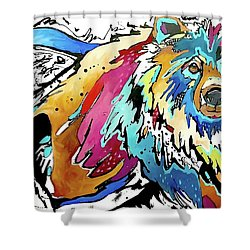 The Grizzly Details Shower Curtain