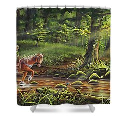 The Journey Begins Shower Curtain