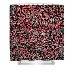 Shower Curtain featuring the digital art The Labyrinth by Lucia Sirna