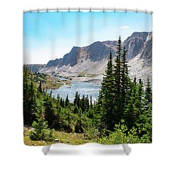 The Lakes Of Medicine Bow Peak Shower Curtain