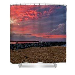 The Last Sunrise Of 2018 Shower Curtain