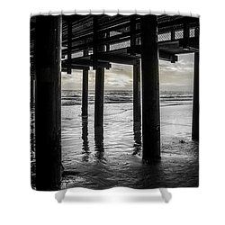 The Light Downunder - B And W Shower Curtain