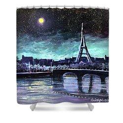 The Lights Of Paris Shower Curtain