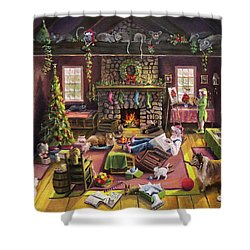 The Micey Christmas Heisty Shower Curtain