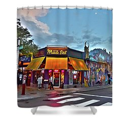The Middle East In Cambridge Central Square Dusk Shower Curtain