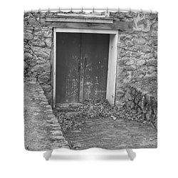 The Mill Door - Waterloo Village Shower Curtain