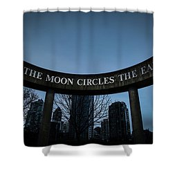 The Moon Circle Shower Curtain