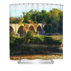 The Old Bridge  Shower Curtain
