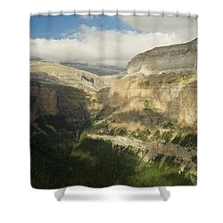 Shower Curtain featuring the photograph The Ordesa Valley by Stephen Taylor