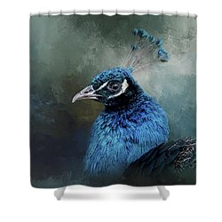 The Peacock's Crown Shower Curtain