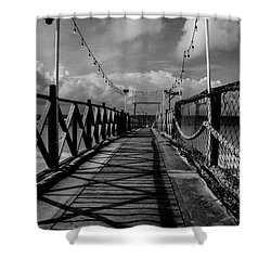 Shower Curtain featuring the photograph The Pier #2 by Stuart Manning
