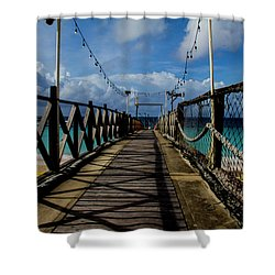 Shower Curtain featuring the photograph The Pier #3 by Stuart Manning