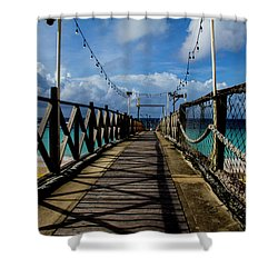 Shower Curtain featuring the photograph The Pier by Stuart Manning
