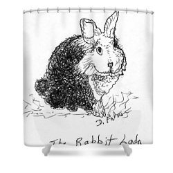 The Rabbit Lady Drawing Shower Curtain