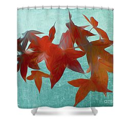 The Red Leaves Shower Curtain