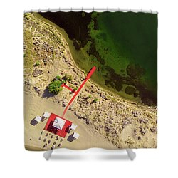 Shower Curtain featuring the photograph The Red by Okan YILMAZ