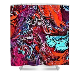 The Red Planet  Shower Curtain