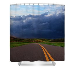 Shower Curtain featuring the photograph The Road by John Rodrigues
