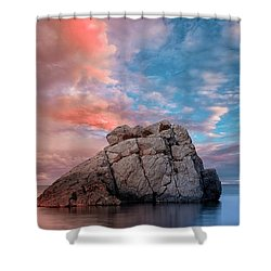 The Rock And The Sea Shower Curtain
