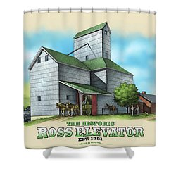 The Ross Elevator Shower Curtain