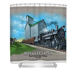The Ross Elevator Sentinel Of The Plains Shower Curtain
