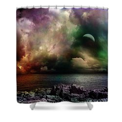 The Sacred Storm Shower Curtain