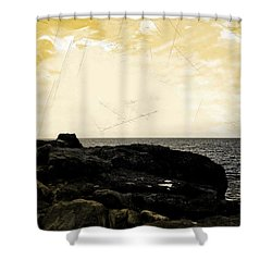 Shower Curtain featuring the photograph The Sea   by Lucia Sirna