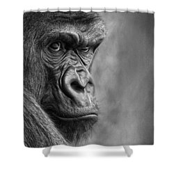 The Serious One Shower Curtain