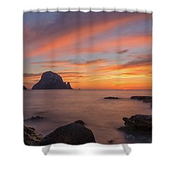 The Sunset On The Island Of Es Vedra, Ibiza Shower Curtain