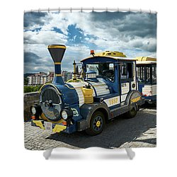 The Touristic Train Of Ourense Shower Curtain