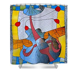 The Violin Shower Curtain