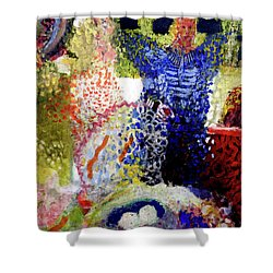 Shower Curtain featuring the painting The Word Was Made Flesh The Egg And I by Amzie Adams