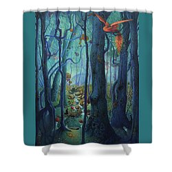 The World Between The Trees Shower Curtain