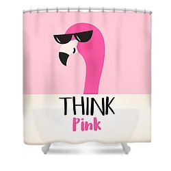 Think Pink - Baby Room Nursery Art Poster Print Shower Curtain