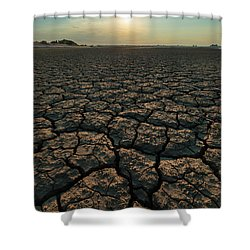 Shower Curtain featuring the photograph Thirsty Ground by Davor Zerjav
