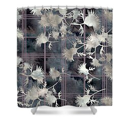 Thistle Plaid  Shower Curtain