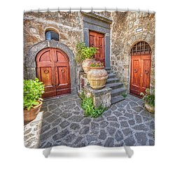 Three Doors Of Tuscany Shower Curtain