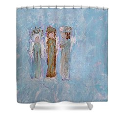 Three Friendly Angels Shower Curtain