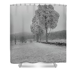 Three Sentinals Shower Curtain