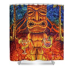 Tiki Cocktail Hour Shower Curtain