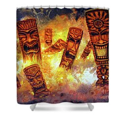 Tiki Hot Spot Shower Curtain