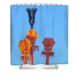 Tiki Palm Springs Shower Curtain