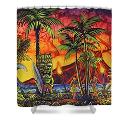 Tiki Surf A Lot Shower Curtain