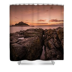 To The Sunset - Marazion Cornwall Shower Curtain