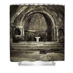 Tomb And Altar In The Monastery Of San Pedro De Rocas Shower Curtain