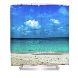 Topical Beach View Anguilla Shower Curtain