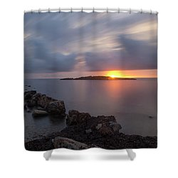 Total Calm In An Ibiza Sunrise Shower Curtain